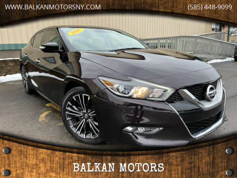 2016 Nissan Maxima for sale at BALKAN MOTORS in East Rochester NY