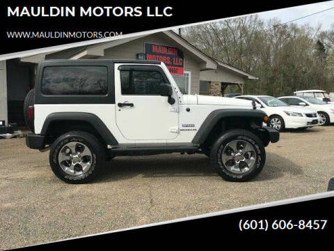 2012 Jeep Wrangler for sale at MAULDIN MOTORS LLC in Sumrall MS