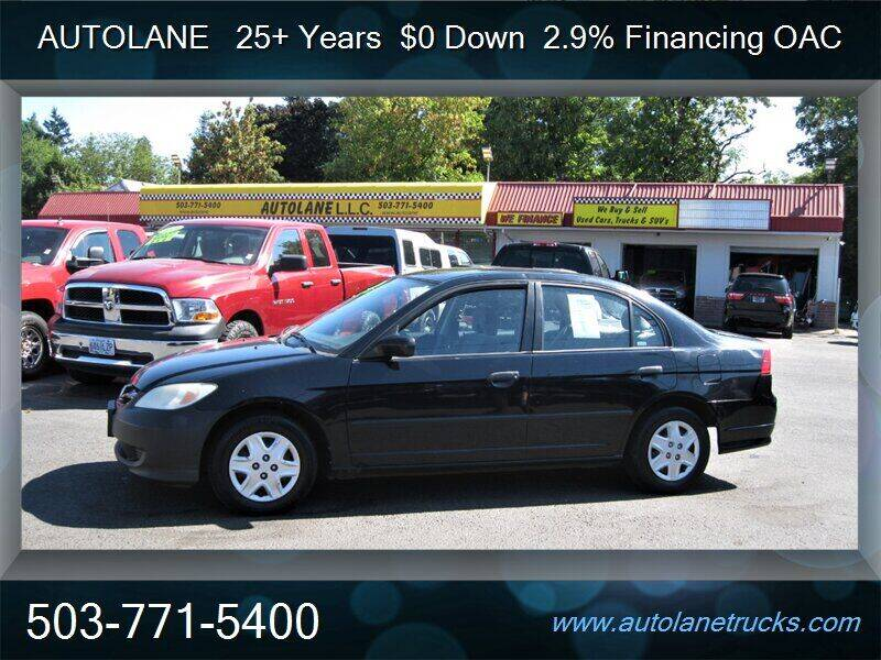2005 Honda Civic for sale at Auto Lane in Portland OR