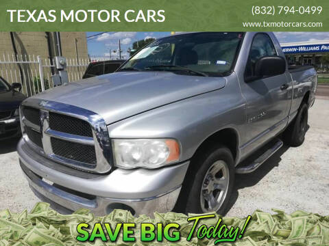 2005 Dodge Ram Pickup 1500 for sale at TEXAS MOTOR CARS in Houston TX