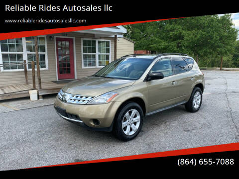2006 Nissan Murano for sale at Reliable Rides Autosales llc in Greer SC