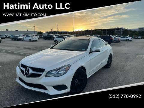 2014 Mercedes-Benz E-Class for sale at Hatimi Auto LLC in Austin TX