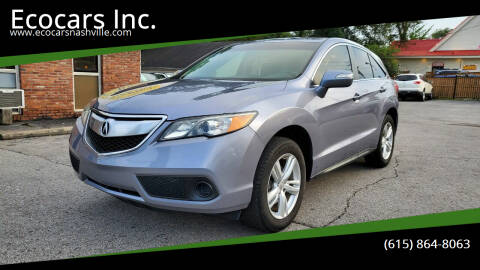 2013 Acura RDX for sale at Ecocars Inc. in Nashville TN