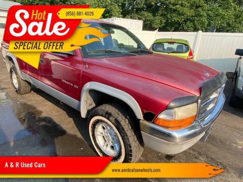 1998 Dodge Dakota for sale at A & R Used Cars in Clayton NJ