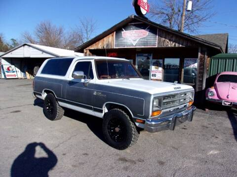 1988 Dodge Ramcharger for sale at LEE AUTO SALES in McAlester OK