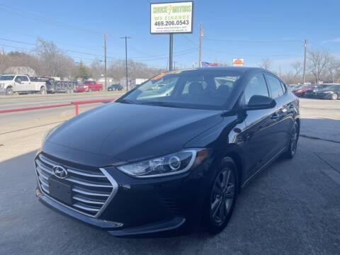 2017 Hyundai Elantra for sale at Shock Motors in Garland TX
