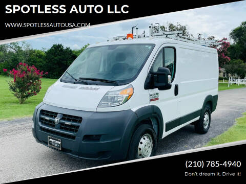 2017 RAM ProMaster Cargo for sale at SPOTLESS AUTO LLC in San Antonio TX