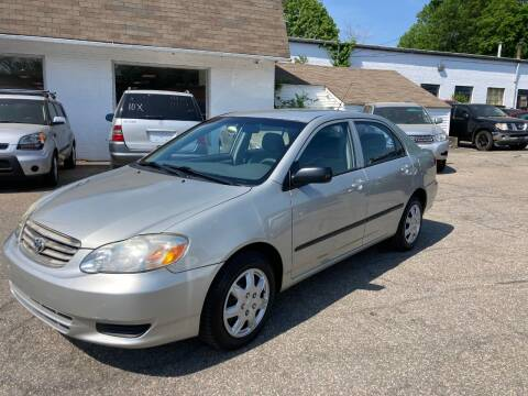 2004 Toyota Corolla for sale at ENFIELD STREET AUTO SALES in Enfield CT