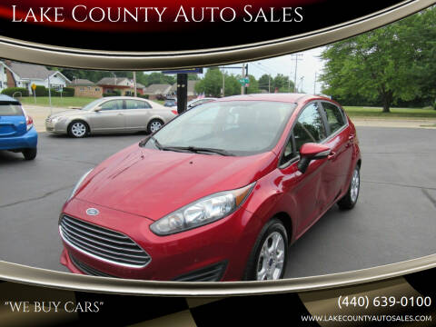 2016 Ford Fiesta for sale at Lake County Auto Sales in Painesville OH