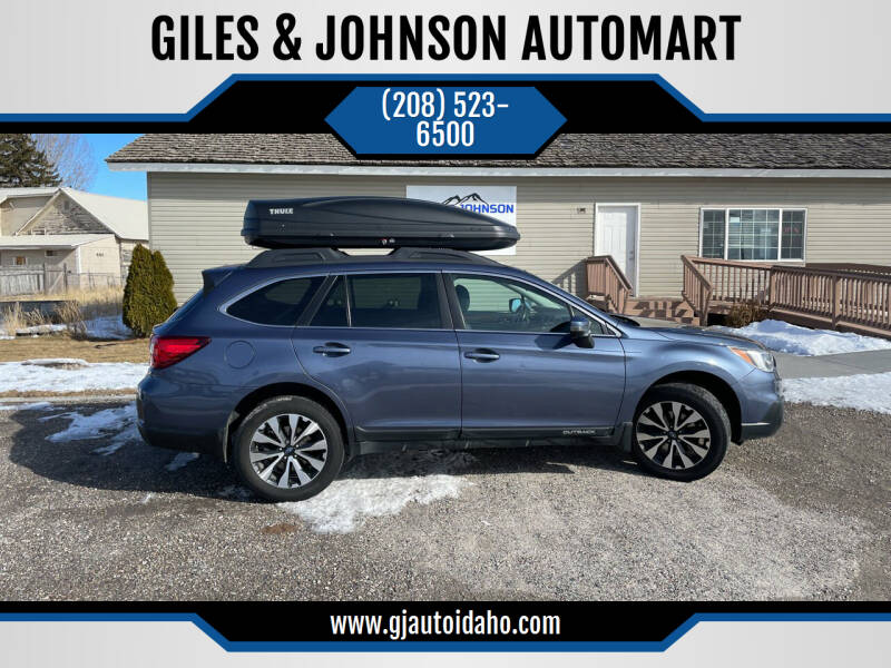 2015 Subaru Outback for sale at GILES & JOHNSON AUTOMART in Idaho Falls ID