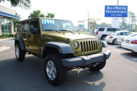 2007 Jeep Wrangler Unlimited for sale at BlueWater MotorSports in Wilmington NC