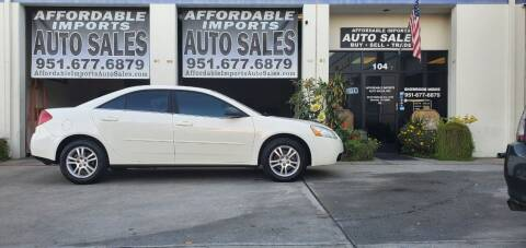 2005 Pontiac G6 for sale at Affordable Imports Auto Sales in Murrieta CA