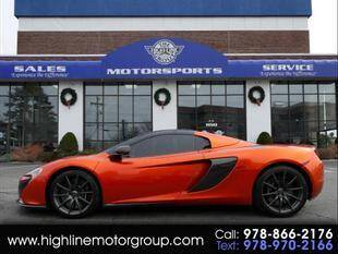 2016 McLaren 650S Spider for sale at Highline Group Motorsports in Lowell MA