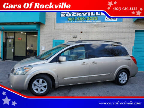 2004 Nissan Quest for sale at Cars Of Rockville in Rockville MD
