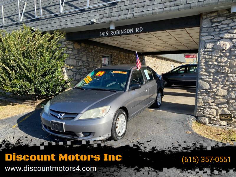 2004 Honda Civic for sale at Discount Motors Inc in Old Hickory TN