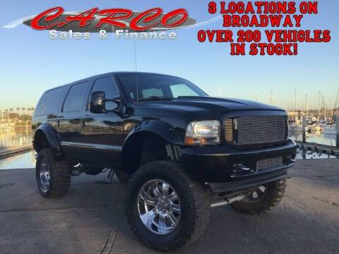 2001 Ford Excursion for sale at CARCO SALES & FINANCE in Chula Vista CA