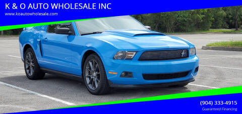 2011 Ford Mustang for sale at K & O AUTO WHOLESALE INC in Jacksonville FL