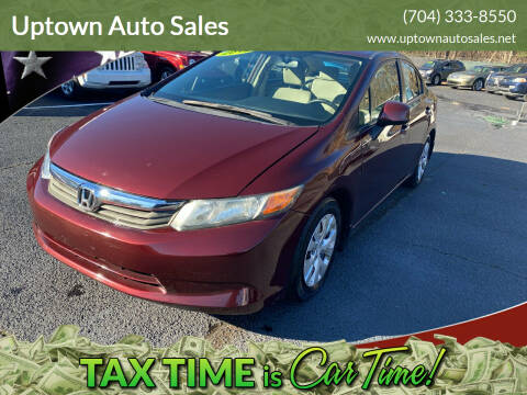 2012 Honda Civic for sale at Uptown Auto Sales in Charlotte NC