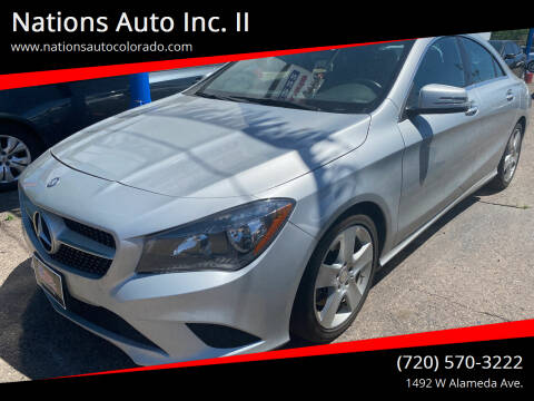 2015 Mercedes-Benz CLA for sale at Nations Auto Inc. II in Denver CO