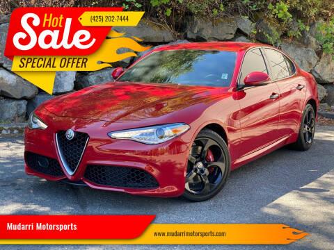 2017 Alfa Romeo Giulia for sale at Mudarri Motorsports in Kirkland WA