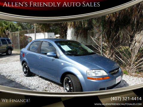 2006 Chevrolet Aveo for sale at Allen's Friendly Auto Sales in Sanford FL