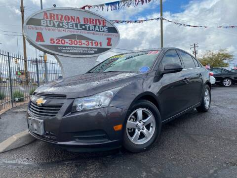 2013 Chevrolet Cruze for sale at Arizona Drive LLC in Tucson AZ