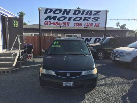 2001 Honda Odyssey for sale at DON DIAZ MOTORS in San Diego CA
