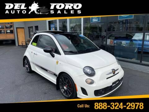 2015 FIAT 500c for sale at DEL TORO AUTO SALES in Auburn WA