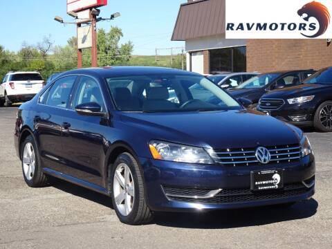 2012 Volkswagen Passat for sale at RAVMOTORS in Burnsville MN