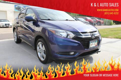 2016 Honda HR-V for sale at K & L Auto Sales in Saint Paul MN