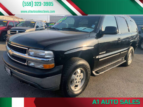 2001 Chevrolet Tahoe for sale at A1 AUTO SALES in Clovis CA