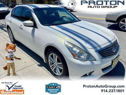 2011 Infiniti G25 Sedan for sale at Proton Auto Group in Yonkers NY