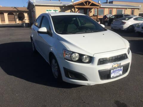 2012 Chevrolet Sonic for sale at Creekside Auto Sales in Pocatello ID