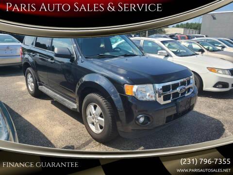 2011 Ford Escape for sale at Paris Auto Sales & Service in Big Rapids MI