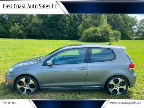 2012 Volkswagen GTI for sale at East Coast Auto Sales llc in Virginia Beach VA