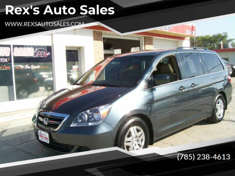2005 Honda Odyssey for sale at Rex's Auto Sales in Junction City KS