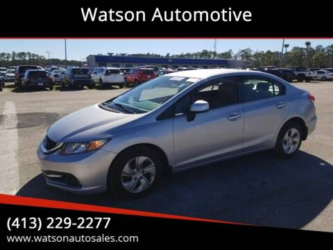 2013 Honda Civic for sale at Watson Automotive in Sheffield MA