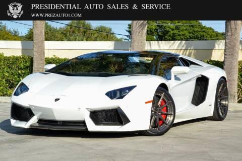 2014 Lamborghini Aventador for sale at Presidential Auto  Sales & Service in Delray Beach FL