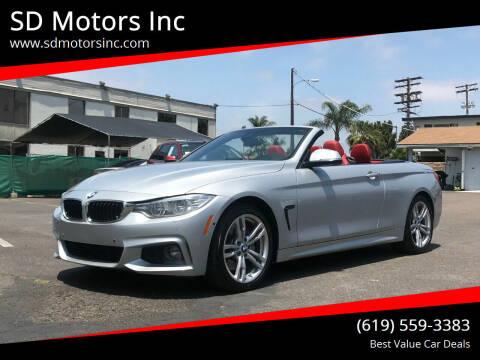 2014 BMW 4 Series for sale at SD Motors Inc in La Mesa CA