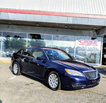 2014 Chrysler 200 for sale at Carz Unlimited in Richmond VA