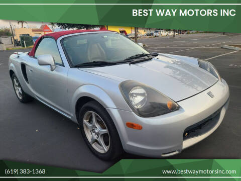 2002 Toyota MR2 Spyder for sale at BEST WAY MOTORS INC in San Diego CA