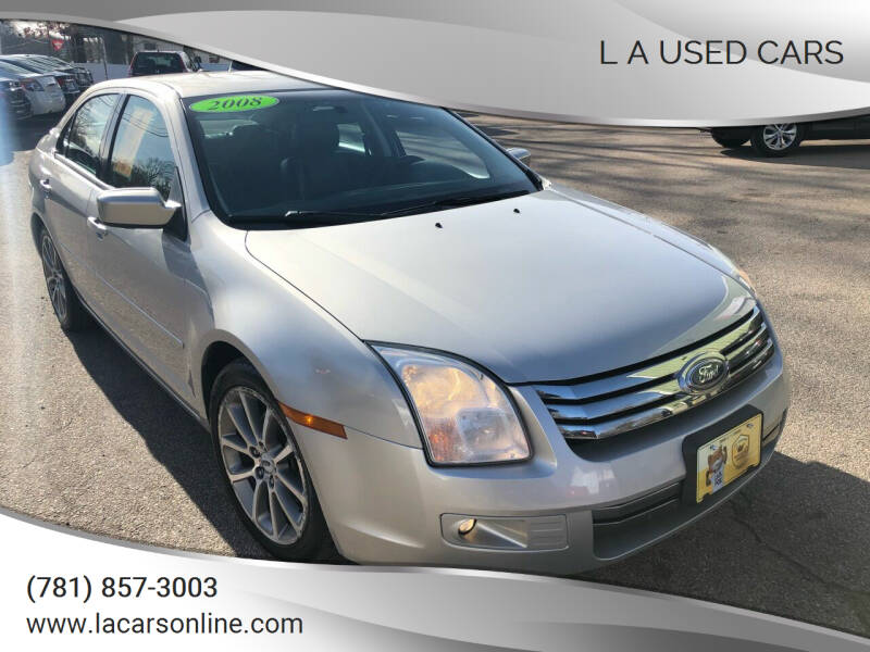 2008 Ford Fusion for sale at L A Used Cars in Abington MA