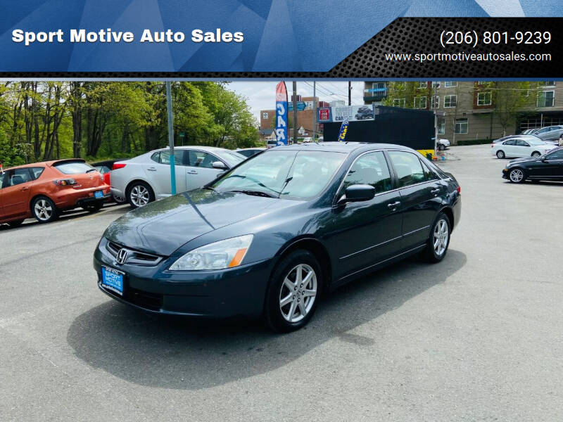 2004 Honda Accord for sale at Sport Motive Auto Sales in Seattle WA