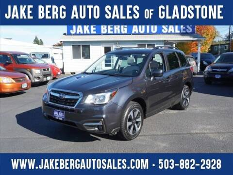 2018 Subaru Forester for sale at Jake Berg Auto Sales in Gladstone OR