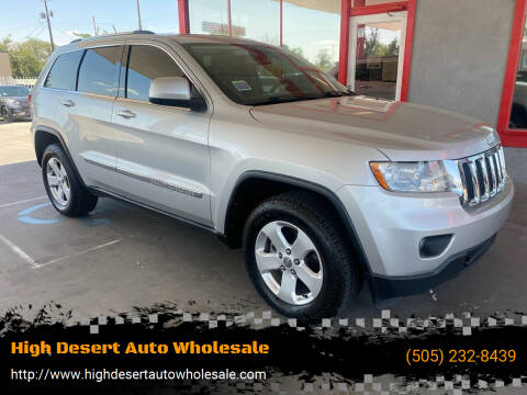 2012 Jeep Grand Cherokee for sale at High Desert Auto Wholesale in Albuquerque NM
