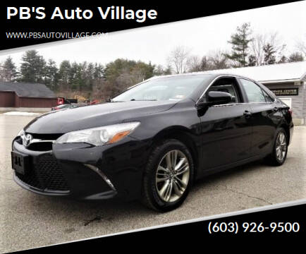 2017 Toyota Camry for sale at PB'S Auto Village in Hampton Falls NH