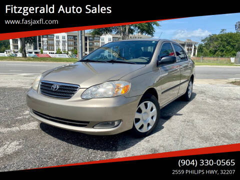 2005 Toyota Corolla for sale at Fitzgerald Auto Sales in Jacksonville FL