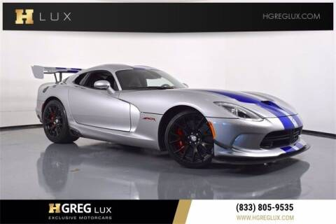 2016 Dodge Viper for sale at HGREG LUX EXCLUSIVE MOTORCARS in Pompano Beach FL