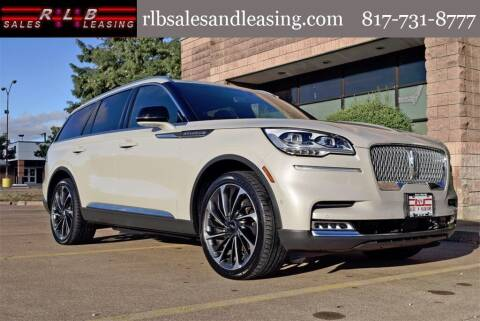 2020 Lincoln Aviator for sale at RLB Sales and Leasing in Fort Worth TX
