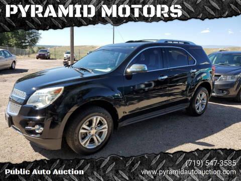 2012 Chevrolet Equinox for sale at PYRAMID MOTORS - Pueblo Lot in Pueblo CO